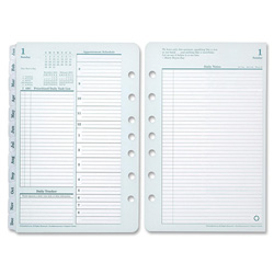 Franklin Covey Original Dated Daily Planner Refill, January-December, 4 1/4 x 6 3/4, 2018