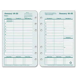 Franklin Covey Original Dated Weekly/Monthly Planner Refill, Jan.-Dec., 4 1/2 x 6 3/4, 2018