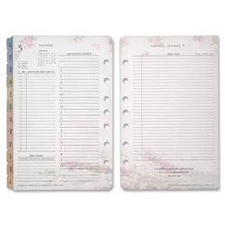 Franklin Covey Blooms Dated Daily Planner Refill, January-December, 4 3/4 x 6 3/4, 2018