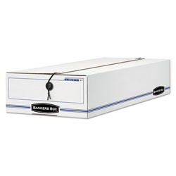 Fellowes Storage Box, Check/Microfilm Size, 9-1/2x4-1/4x23- 1/4, White, 12/Carton