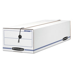 Fellowes Storage Box, Record Form Size, 7x8 3/4x23 3/4, White, 12/Ct