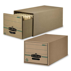 "Fellowes Storage Drawer, Recycled, Legal, 15-1/4"" x 23-1/2"" x 10-1/4"" Kraft"