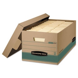 Fellowes Box w/Lid, Lgl, Paper, 15 x 24 x 10, Kraft, 12/Carton
