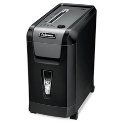 "Fellowes Cross Cut Shredder, 10 Sh Cap, 10"" x 18-7/16"" x 20"", BK/SR"