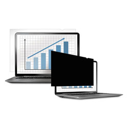 "Fellowes Black-Out Privacy Frameless Filter for 14.1"" LCD/Notebook, Antiglare"