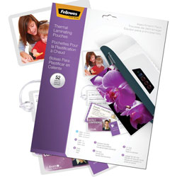 Fellowes Starter Pack Clear Laminating Pouch, 3 Mil, Assorted Sizes, 52/Pack