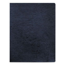 Fellowes Classic Grain Texture Binding System Covers, 11-1/4 x 8-3/4, Navy, 200/Pack
