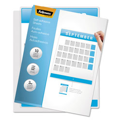 Fellowes Self-Laminating Sheets, 3mm, 9-1/8 x 12, 50/box