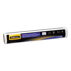 "Fellowes Self-Adhesive Laminating Roll, 3 mil, 16"" x 10-ft., Clear, Glossy Finish"