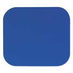 "Fellowes 58021 Blue Solid Color Polyester Mouse Pad with Fabric Covering, 9""w x 8""d x 3/16""h"