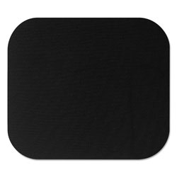 Fellowes Polyester Mouse Pad, Nonskid Rubber Base, 9 x 8, Black