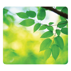 Fellowes Recycled Mouse Pad, Nonskid Base, 9 x 8 x 1/16, Leaves
