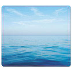 Fellowes Recycled Mouse Pad, Nonskid Base, 7-1/2 x 9, Blue Ocean