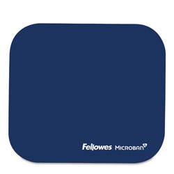 Fellowes Mouse Pad with Microban® Protection, Polyester Surface, Navy