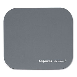 Fellowes Mouse Pad with Microban® Protection, Polyester Surface, Silver
