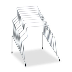 Fellowes Wire Organizer Rack, 8 Sections, Silver