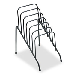 Fellowes Junior Wire Organizer Rack, 6 Sections, Black