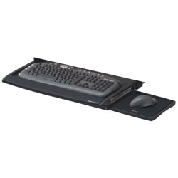 Fellowes Deluxe Keyboard Drawer, 20-7/8 x 11-3/4, Black/Silver