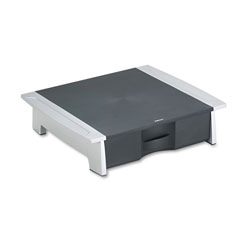 Fellowes Printer/Fax/Office Machine Desktop Stand with Storage Drawer, Black/Silver