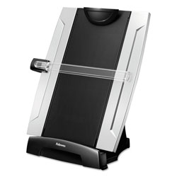 Fellowes Office Suites Three In One Desktop Copyholder, 10 1/4w x 6d x 15h, Black/Silver