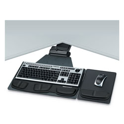 Fellowes Graphite Corner Keyboard Tray