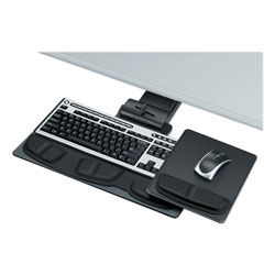Fellowes Keyboard Manager, Mousing Height/Depth/Lateral/Tilt Adjustable, Graphite/Silver