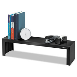 "Fellowes Black Shelf, Supports 30 lb., 26"" x 7"" x 6 1/4"""