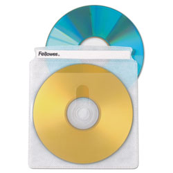 Fellowes 90661 Clear CD Sleeve Refills for CD/DVD Sleeve Files