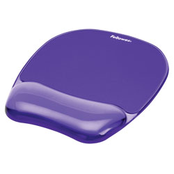 Fellowes Gel Crystals Mouse Pad with Gel Wrist Rest, Purple