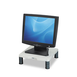 Fellowes Height Adjustable Standard Monitor Riser, Platinum/Graphite Accents