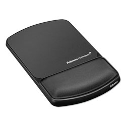 Fellowes Gel Wrist Rest and Mouse Pad with Microban® Protection, Graphite/Black