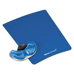 Fellowes Gel Gliding Palm Support w/Mouse Pad, Blue