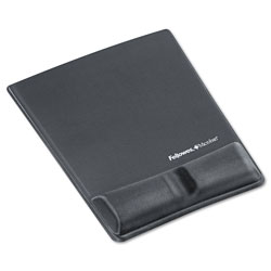 Fellowes Memory Foam Wrist Support With Attached Mouse Pad, Graphite