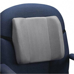Fellowes High Profile Backrest with Soft Brushed Cover, 13w x 4d x 12 5/8h, Graphite