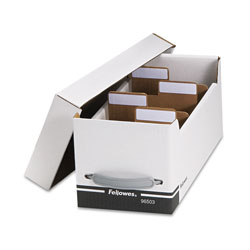 "Fellowes High Cap. Corrugated File for 35 CD/CD ROM or 125 5.25"" Disks, 6 3/4 x 15x6 1/4"