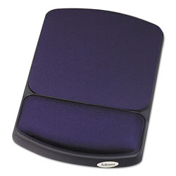 Fellowes Gel Wrist Rest and Mouse Pad, Jewel Tones, Sapphire/Black
