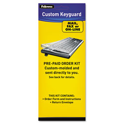 Fellowes Keyboard Protection Kit, Custom Order, Polyurethane