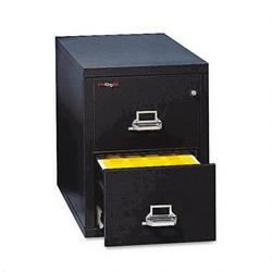 "Fireking Insulated Two Drawer Vertical File, 31 9/16"" Deep, Letter Size, Black"