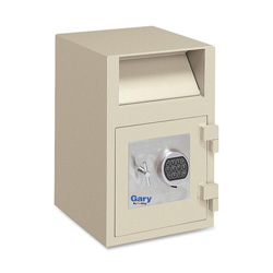 "Fireking FB2114RE Taupe Depository Safe with Electronic Lock, 14""x11""x21"""