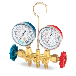 FJC R12 Brass Manifold Gauge Set