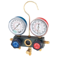 FJC Dual Manifold Gauge Set with Manual Service Couplers
