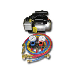 FJC Vacuum Pump and Manifold Gauge Set