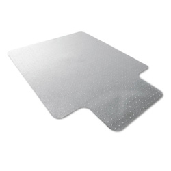 "Floortex Clear Polycarbonate Chair Mat with Lip, 47"" x 35"""