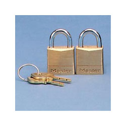 Master Lock Company 120-T Twin Brass Three Pin Tumbler Locks