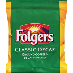Folgers Classic Roast, Decaffeinated, 1.5 oz., 42BG,CT