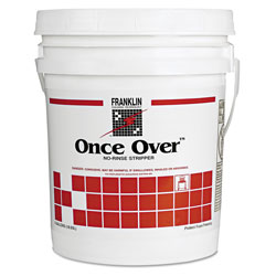 Franklin Cleaning Technology Once Over Floor Stripper, Mint Scent, Liquid, 5 gal. Pail