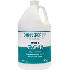 Fresh Products Bio Conqueror 105 Enzymatic Concentrate, Mango, 1gal, Bottle, 4/Carton