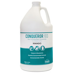 Fresh Products Conqueror 103 Odor Counteractant Concentrate, Mango, 1gal, 4/Carton