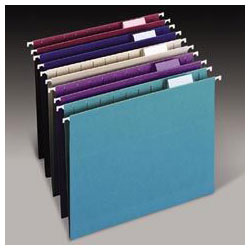 Smead Designer Color Assortment Hanging Folders, Legal, Matching 1/5 Cut Tabs, 25/Box