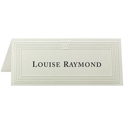 "First-Base Place Cards, 6 Per Page, Fold to 1-13/16""x4-1/4"", 60/Pack, Ivory"